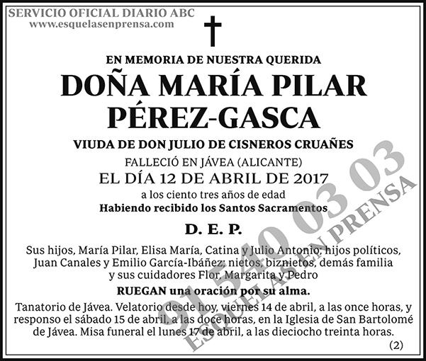 María Pilar Pérez-Gasca